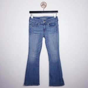 American Eagle kick boot jeans 0 short